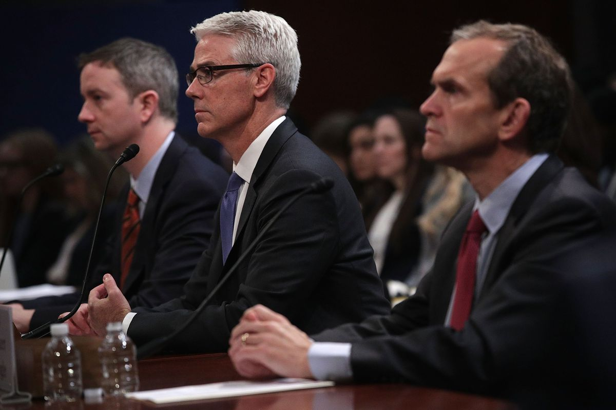 Twitter, Facebook and Google executives testify at a hearing on Capitol Hill