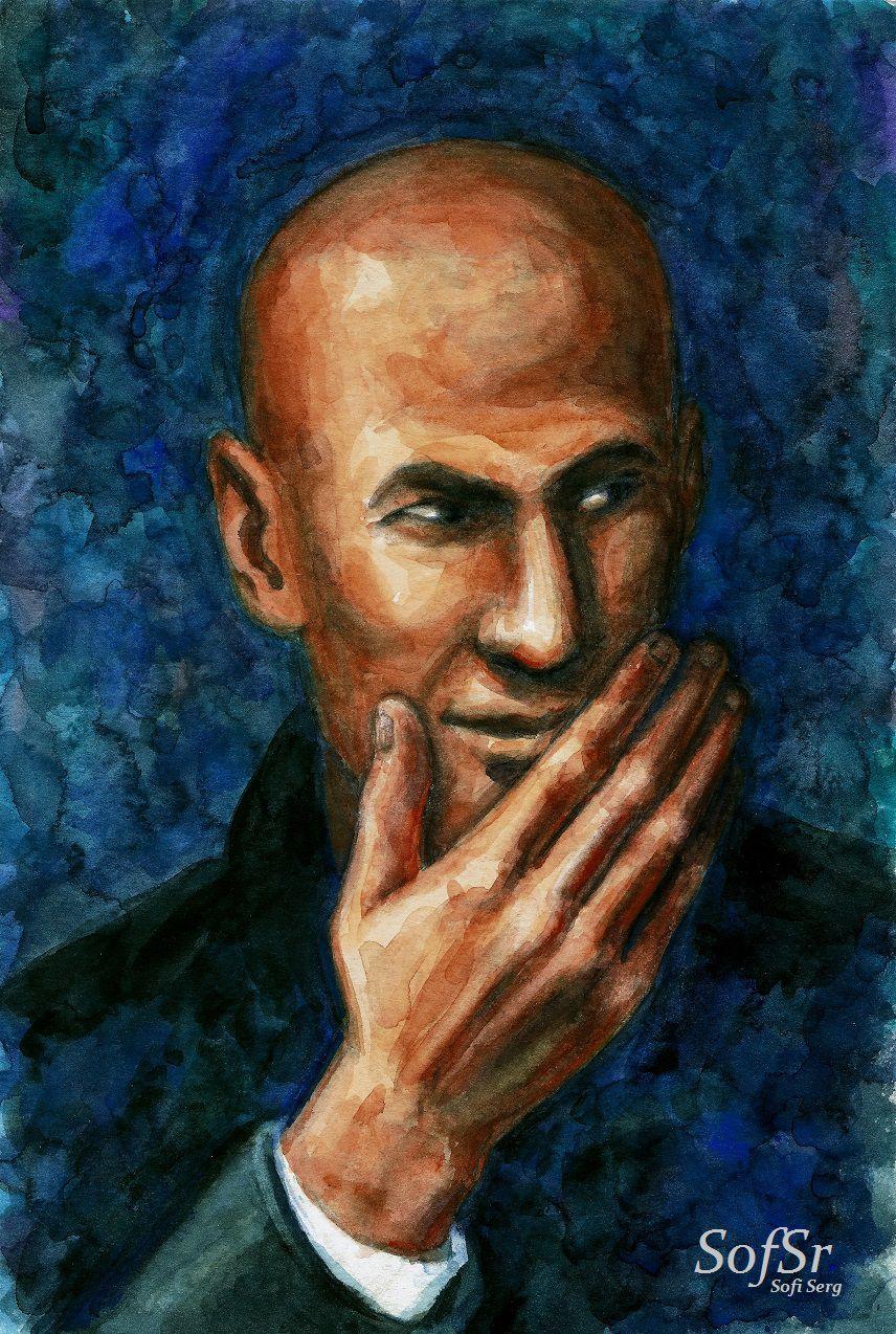Zinedine Zidane. Drawing by Sofi Serg.