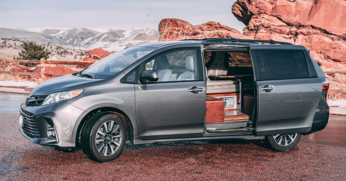 Minivan For Sale >> Toyota Sienna camper sleeps two for $8.5K - Curbed