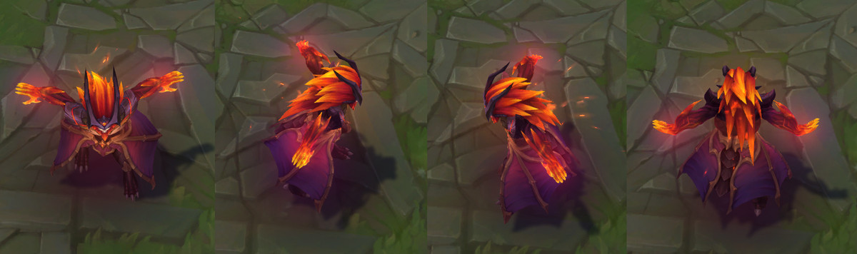 The turnarounds for Dragon Oracle Udyr's Phoenix Stance