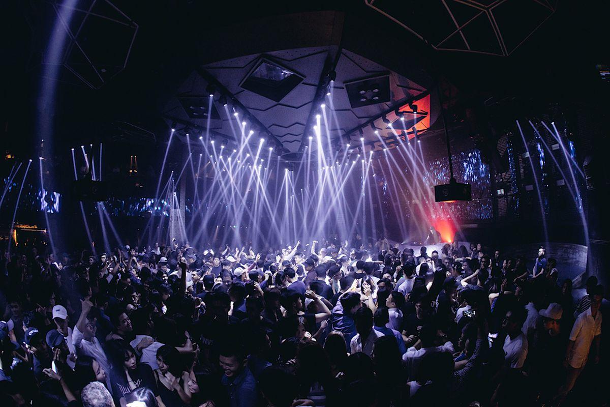 The dance floor at the world famous Zouk Singapore nightclub.
