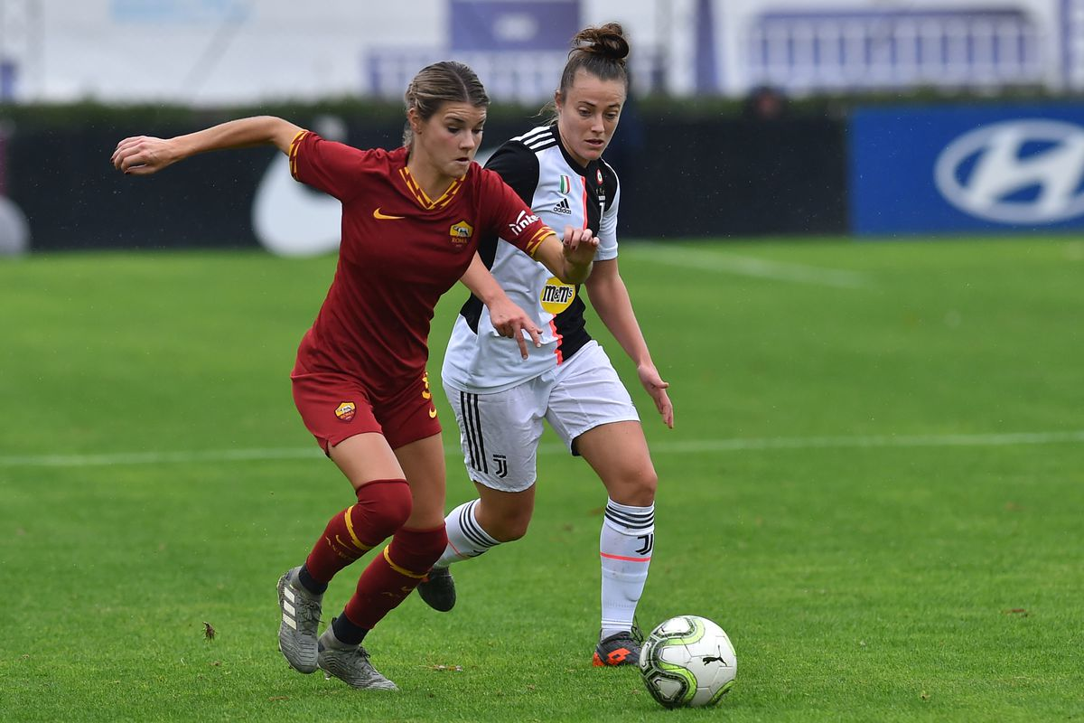 Football woman Roma-Juventus
