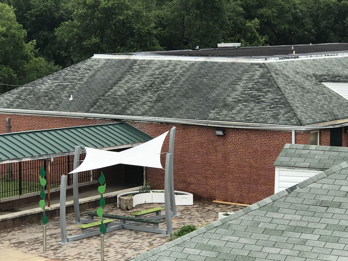 Vision Preparatory Charter School in Memphis rents a district-owned building. Maintenance, especially roof repair, has been an issue for the school.