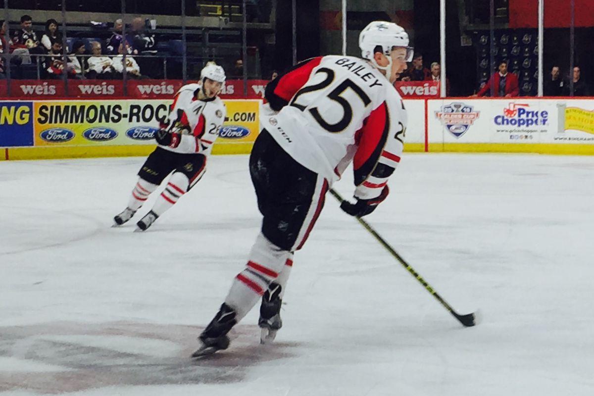 #25 Casey Bailey of the Binghamton Senators
