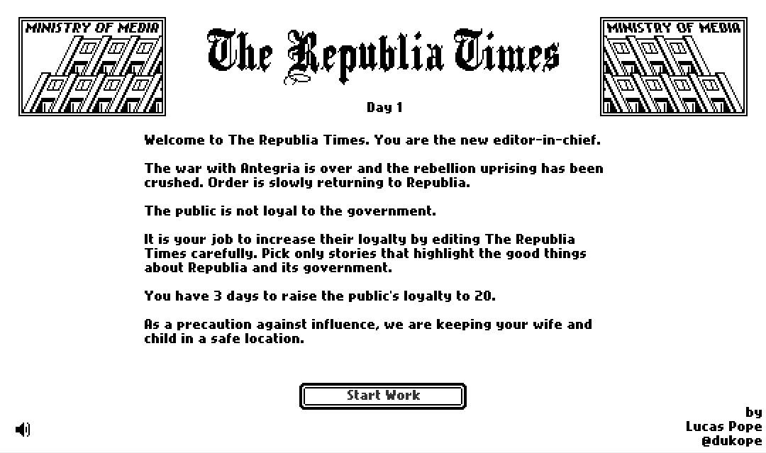(Screenshot from 'The Republia Times,' designed by LucasPope)