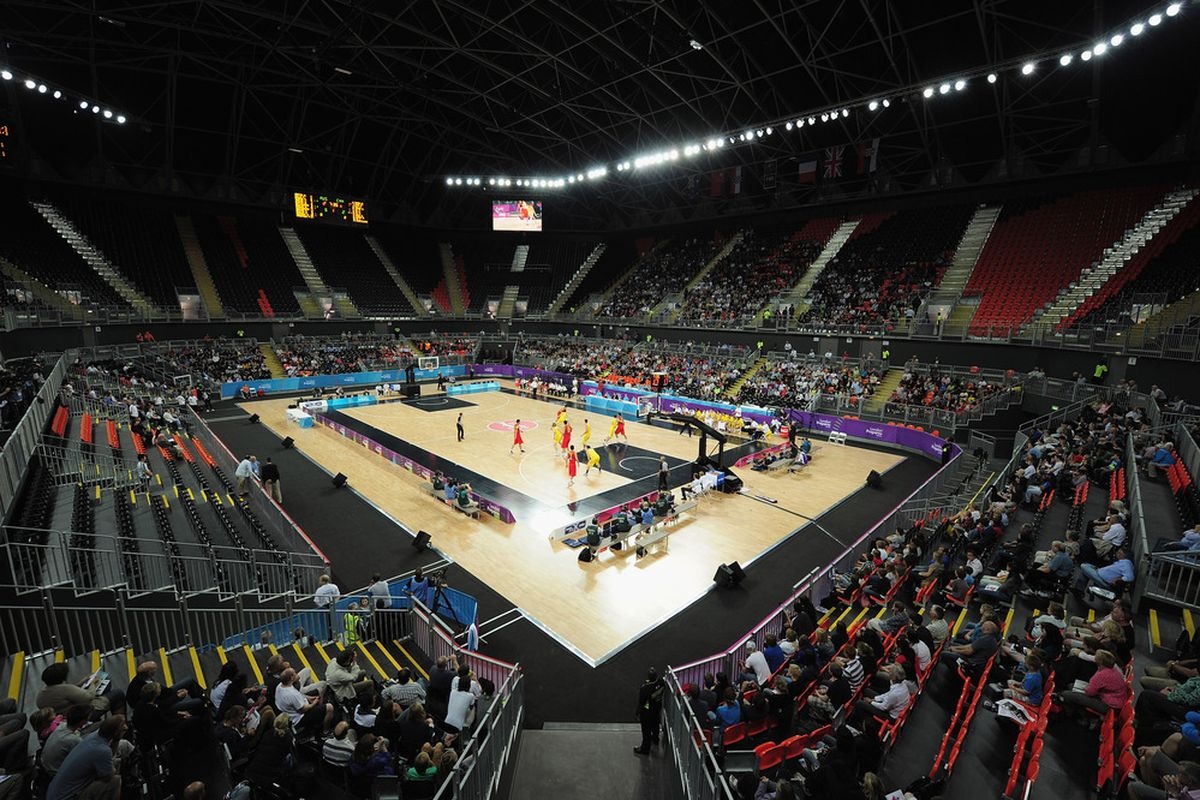 LONDON, ENGLAND - AUGUST 16:  A general view of the action of the London Prepares Series match between Australia and China at the Basketball Arena in the Olympic Park on August 16, 2011 in London, England.  (Photo by Shaun Botterill/Getty Images)