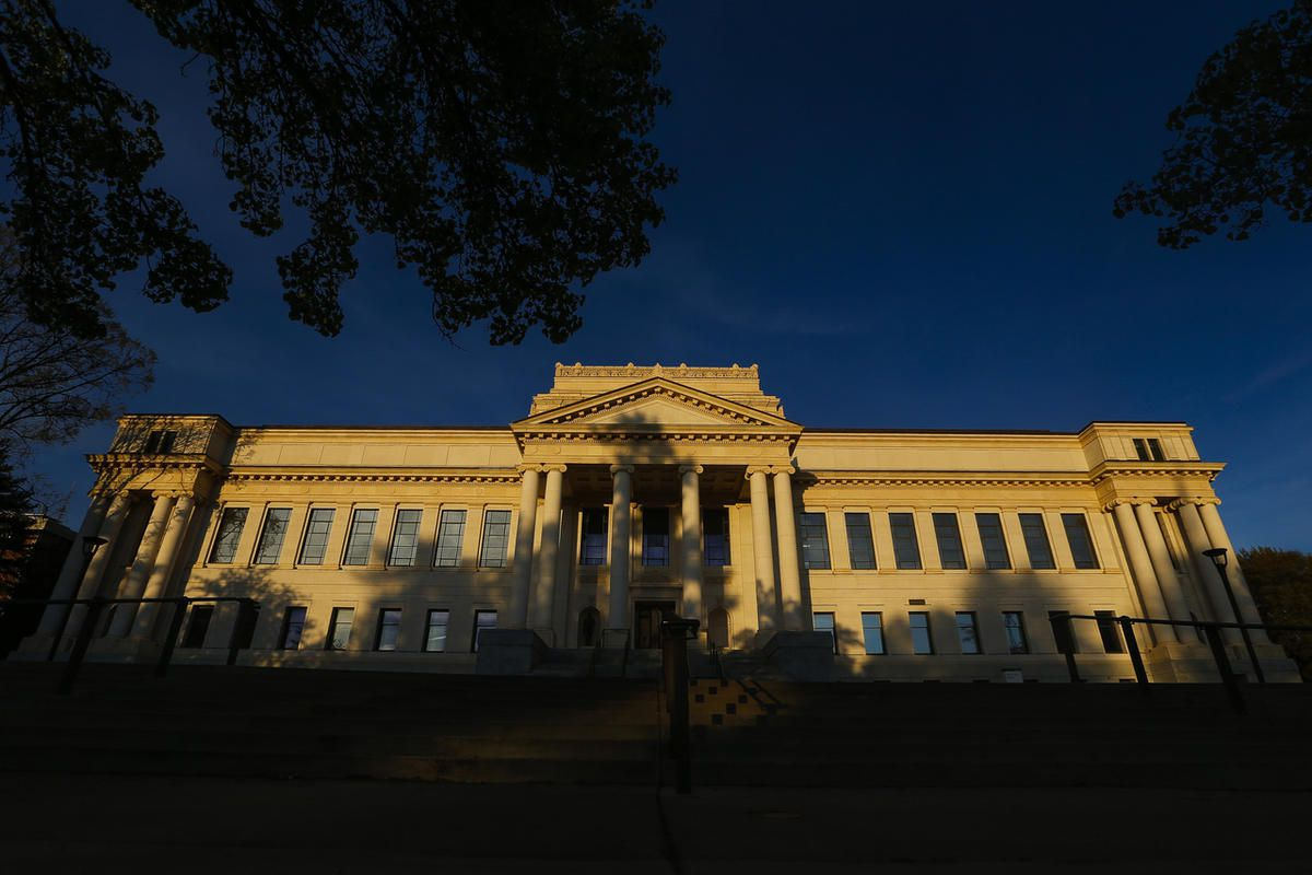 FILE - The John R. Park Building, which houses the University of Utah president's office, is pictured in Salt Lake City on Wednesday, May 3, 2017.