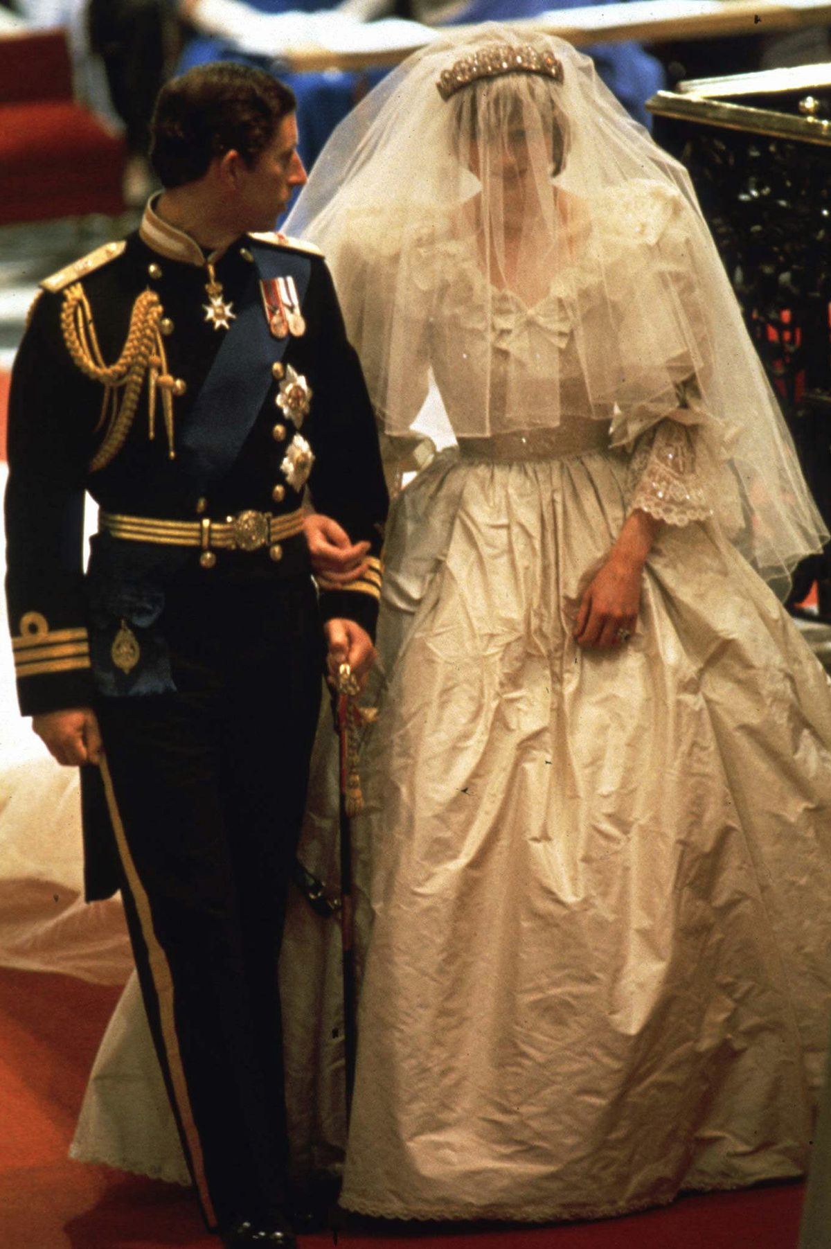 Twenty-year-old Lady Diana Spencer married Prince Charles, the heir to British throne, on July 29, 1981, at St. Paul's Cathedral in London.