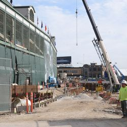 4:33 p.m. Work gate opened next to the ballpark -