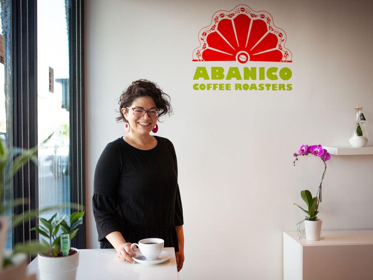Anna Valle of Abanico Coffee Roasters