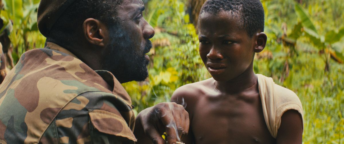 Beasts of No Nation: A child militia soldier speaks to Idris Elba's general