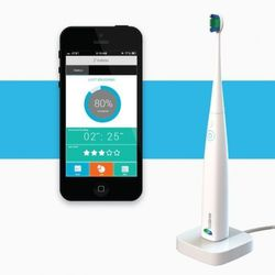 This Kolibree smart toothbrush can sync up with an app to reveal details such as how long you brush for and if you clean certain hard-to-reach areas.