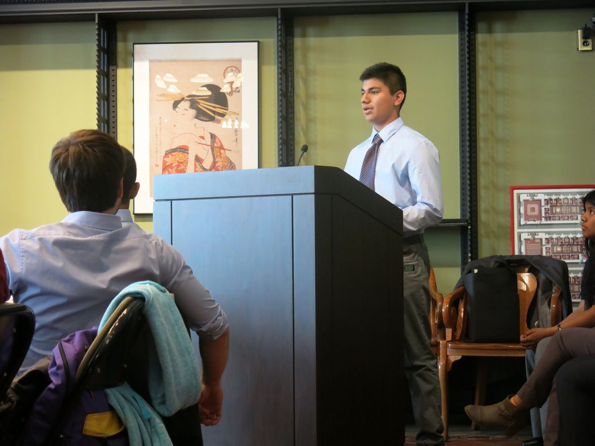 Ivan Ramos, a sophomore at Landmark High School, shares his takeaways from the program.