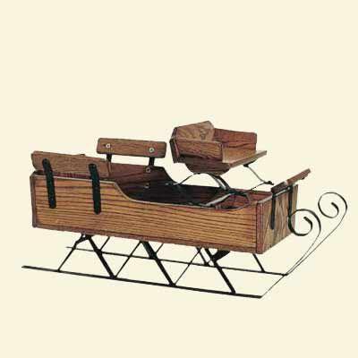 A wooden sleigh.