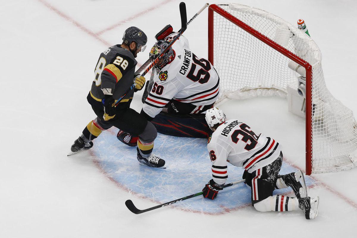 NHL: Stanley Cup Playoffs-Chicago Blackhawks at Vegas Golden Knights