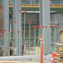 Gates installed at Gate Q, on Sheffield -