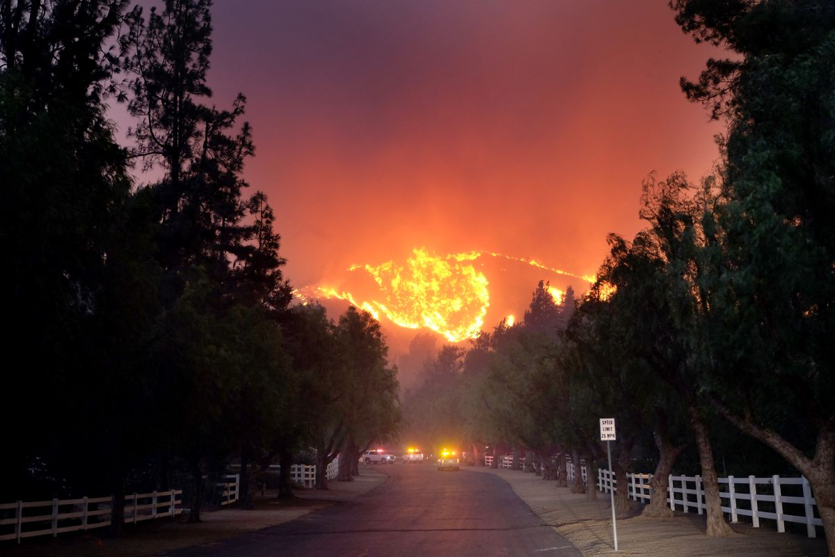 Fast-Spreading Hill and Woolsey Fires Force Evacuations In California's Ventura County