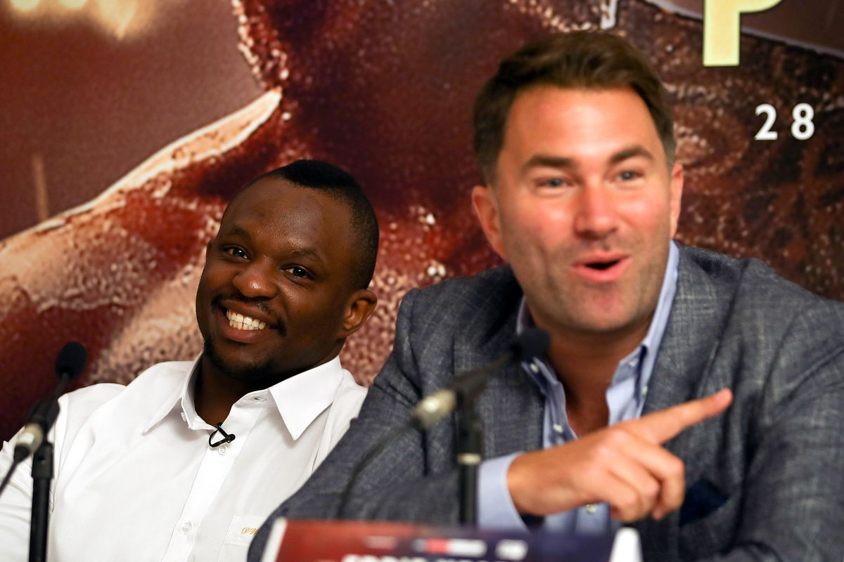 Eddie Hearn says Deontay Wilder and Tyson Fury aren't happy about Dillian Whyte ruling