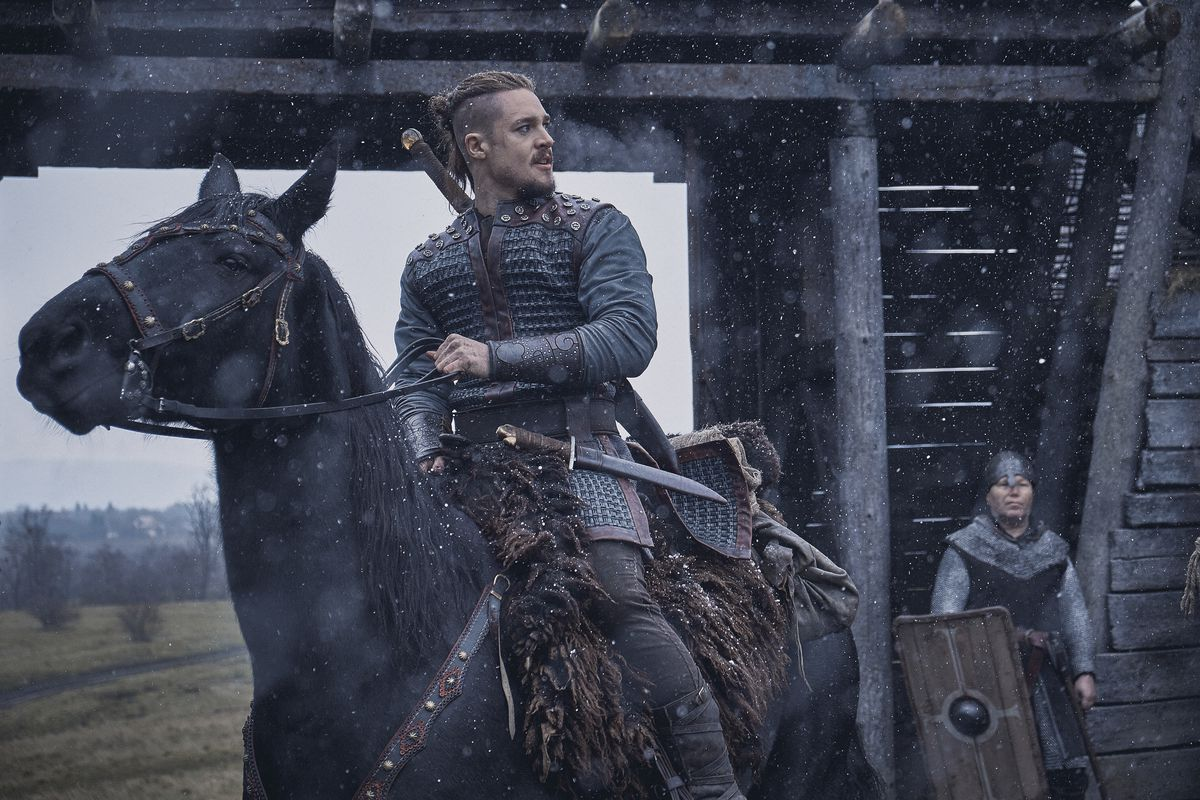 A man on a horse from The Last Kingdom