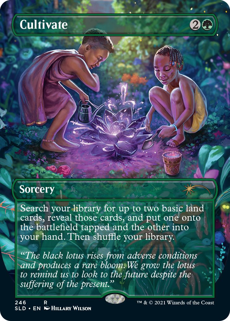 A card from the Secret Lair: Black is Magic set for Magic: The Gathering.