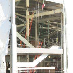A peek inside the left-field concourse -
