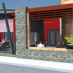 In addition to front patio seating, a outdoor V.I.P room is being designed.