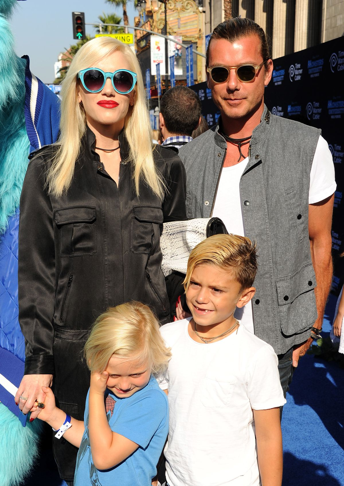 Family outing to the premiere of Disney Pixar's 'Monsters University' - Red Carpet