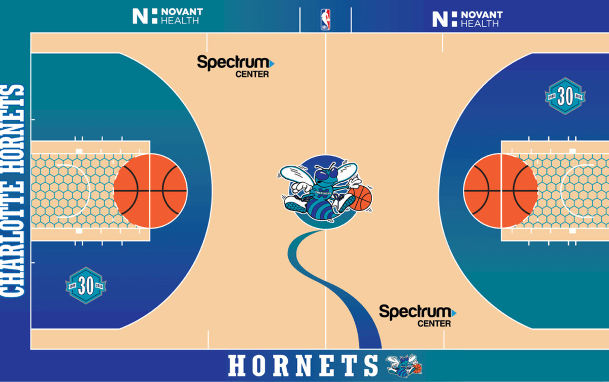 "1d4bd21e7fed Hornets unveil ""Classic Court"" for upcoming season - At The Hive"
