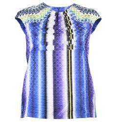 "<b>Peter Pilotto</b> Ten Top in damask blue, <a href=""http://www.shopzoeonline.com/shopping/women/item10318376.aspx"">$755</a> at Zoe Brooklyn"