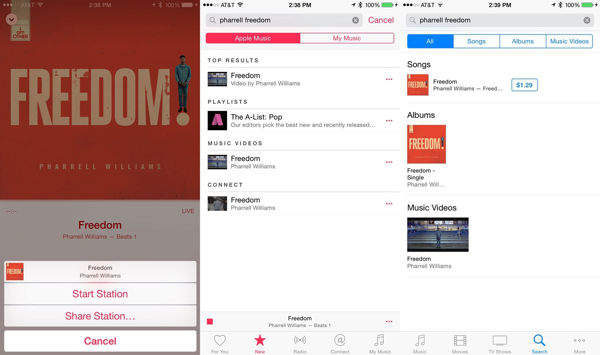 apple music UI disconnect