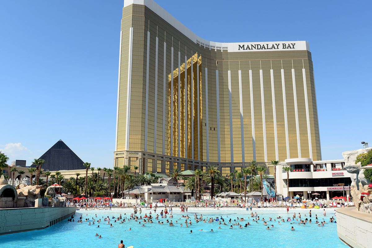 Wave Pool Offers Refuge From Extreme Heat At Mandalay Bay
