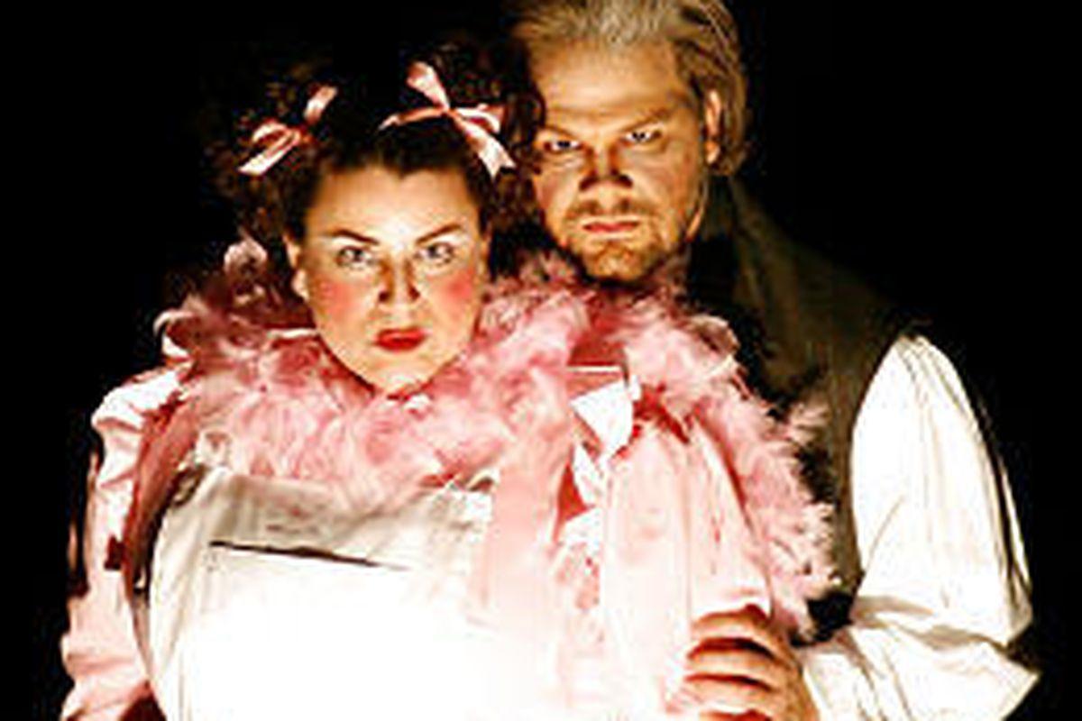 David Hanson plays Sweeney Todd, and Marcie Jacobsen is Mrs. Lovett.