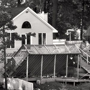 <p>When the deck on this house near Kalamazoo, Michigan, fell during a party in 1992—killing a 57-year-old woman standing beneath it—building officials were perplexed: It appeared to have been bolted into place. A closer look revealed that the lag bolts—giant screws—had penetrated only the sheathing of the house and were not anchored into anything solid.</p>