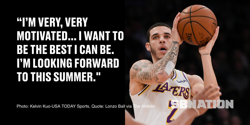 ccd5420d4730 Lakers  Lonzo Ball wants to get healthy so he can improve at shooting