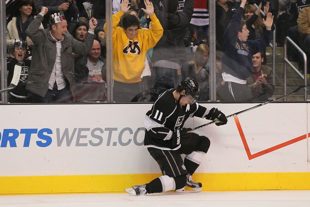 Kopitar scored??? (Photo by Victor Decolongon/Getty Images)