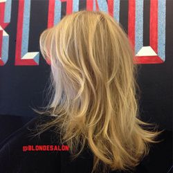 """<span class=""""credit"""">Image via @blondesalon/<a href=""""http://instagram.com/p/msdDfqI2l3/"""">Instagram</a></span></br> <b><a href=""""http://www.theblondtourage.com"""">Blonde Salon</a></b>: From Barbie blonde to beach blonde to girl-next-door blonde, this WeHo sa"""