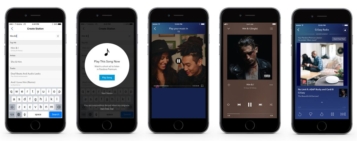 Pandora's free users can now listen to music on demand after they