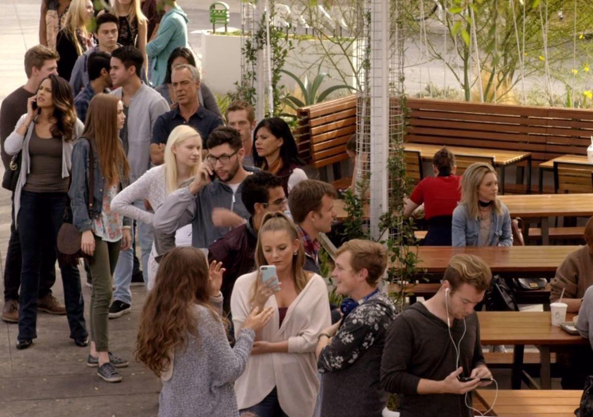 Bosch and Maddie at Shake Shack