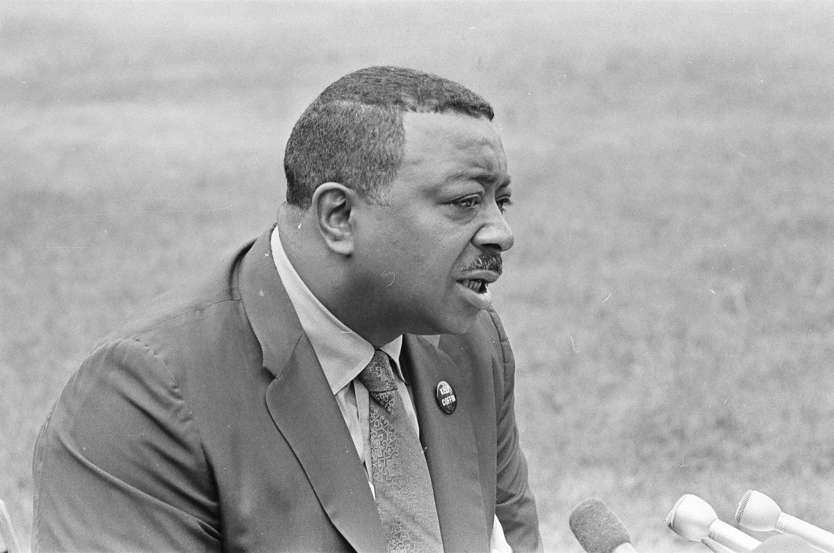 The Rev. Jacob Blake at a press conference. The young Jacob Blake's grandfather pastored Ebenezer AME Church from 1967 to 1976 and fought for fair housing in Evanston.