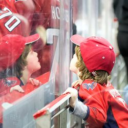 Young Fan Looks Up to Holtby