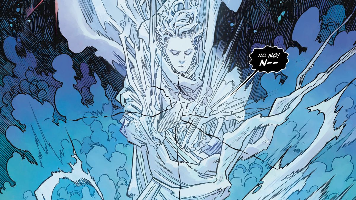 Dream of the Endless snuffs out the life of a foe in The Dreaming #20, DC Comics (2020).