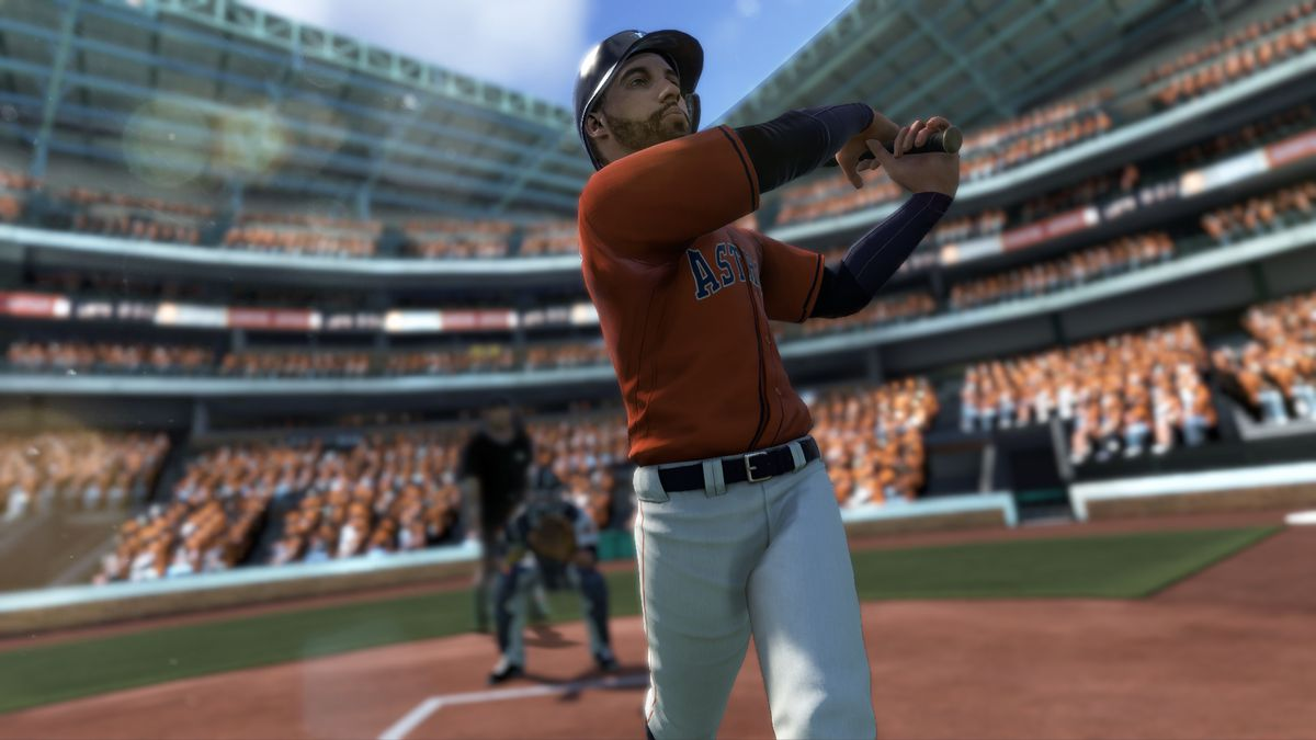 8953d5d9160 George Springer of the World Series champion Houston Astros in R.B.I.  Baseball 18. MLB Advanced Media