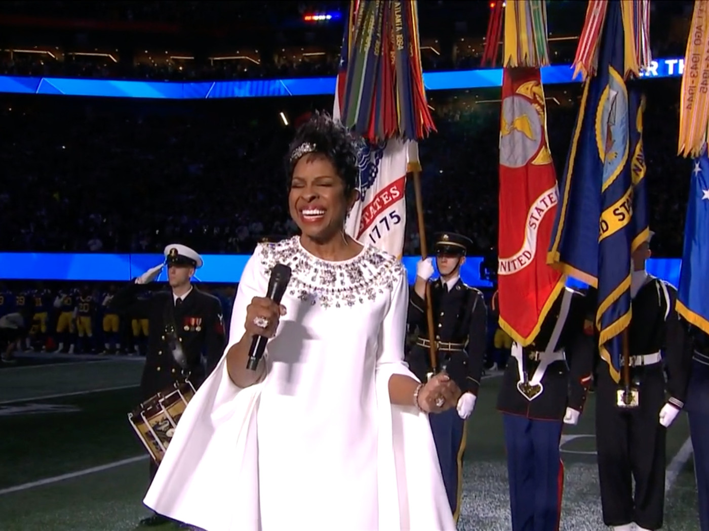 Super Bowl national anthem 2019: Gladys Knight impresses