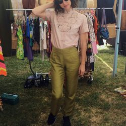 Crystal of Naked Cowgirl Vintage was giving us pant envy with these silk shantung babies.