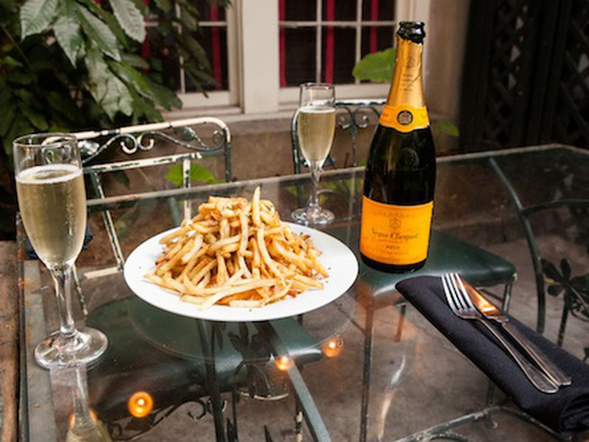 Fries and Veuve Clicquot at Sylvain