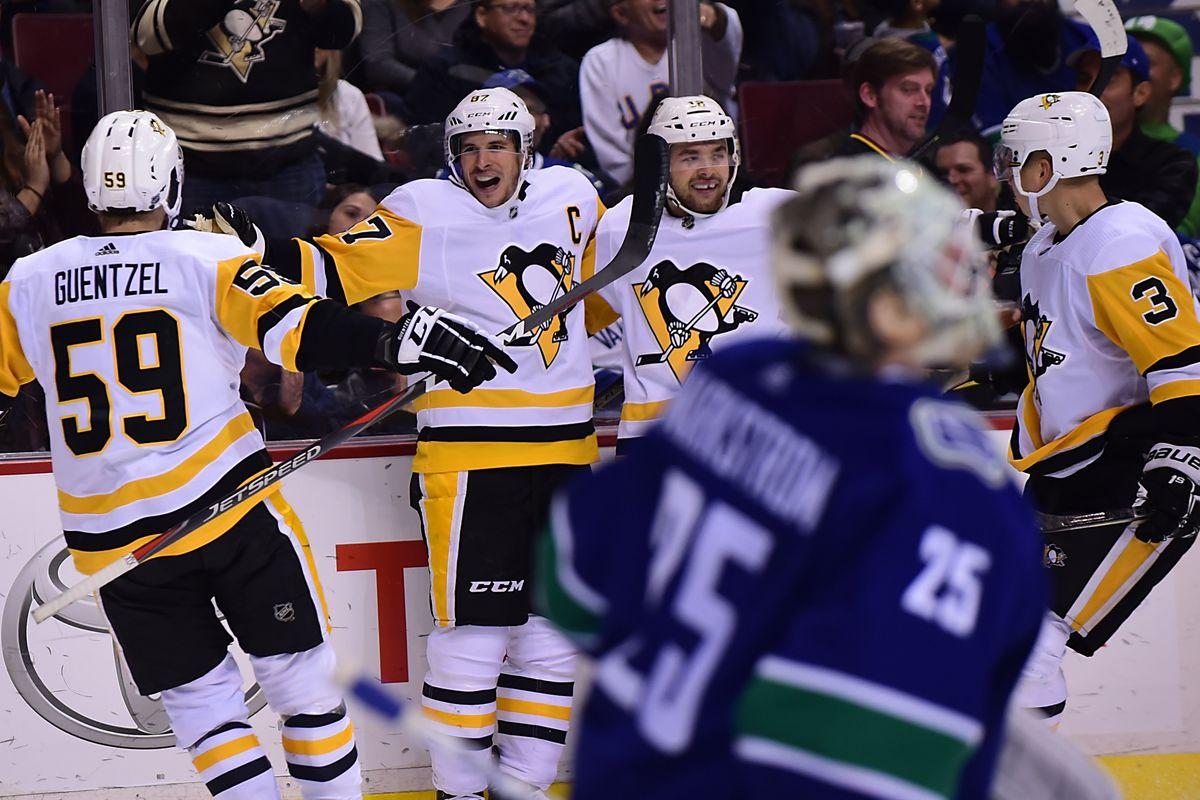 08e96f6fdb9 Penguins-Canucks Recap  Pens Cruise Through Canada with Perfect 4-Game Road  Trip  Win 5-0