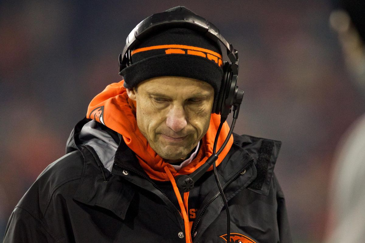 Mike Riley has a lot on his mind as he plots out his gameplan for the 2014 Pac 12 race.
