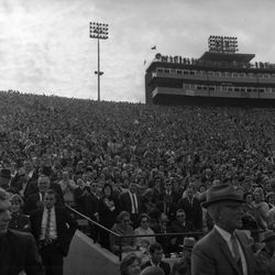 1964-Fans packed into Doak Sheridan Campbell Stadium for FSU football game against UF in Tallahassee.