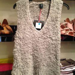 Fuzzy vest, $79