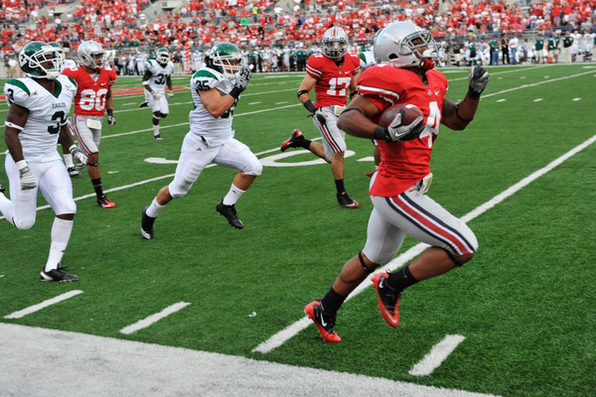 Jaamal Berry, seen here running from real defenders.